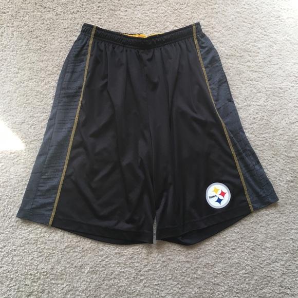 best sneakers c49fb 33fe7 NFL Team Apparel Pittsburgh Steelers Shorts